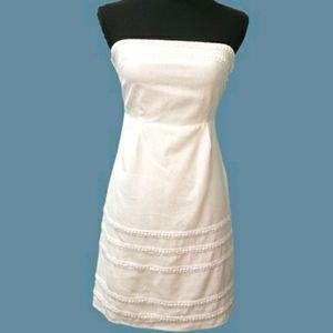Old Navy White Linen Strapless Sundress Sz 0